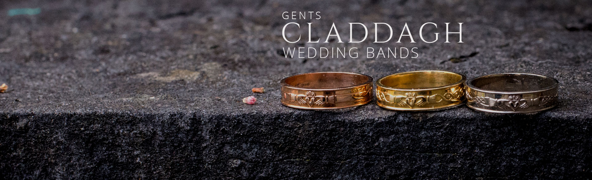 Gents Claddagh Wedding Bands