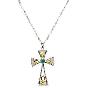 Trinity-Emerald-and-Diamond-Celtic-Cross