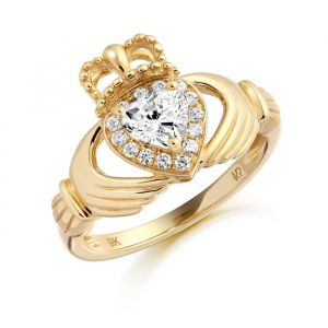 9kt-gold-clear- cubic-zirconia-claddagh-ring