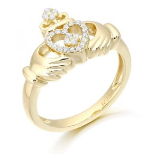 cz-claddagh-ring-made-from-9kt-yellow-gold-with-cz-stone