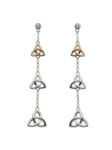 silver-and-9kt-rose-gold-trinity-knot-house-of-lor-earrings