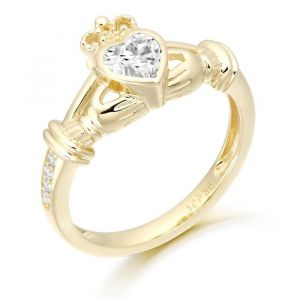 clear-cz-rubover-set-gold-claddagh-ring