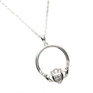 april-birthstone-claddagh-pendant