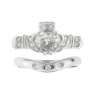 ashford-3-stone-claddagh-wedding-set-in-14-karat-white-gold-and-diamond