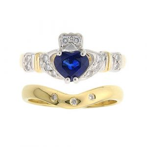 ashford-3-stone-claddagh-wedding-set-in-14-karat-yellow-gold-and-sapphire