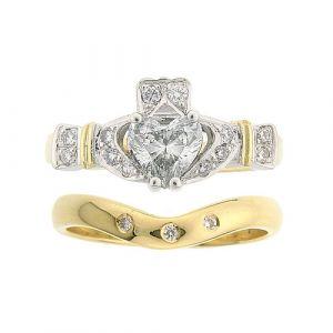 ashford-3-stone-claddagh-wedding-set-in-18-karat-yellow-gold-and-diamond