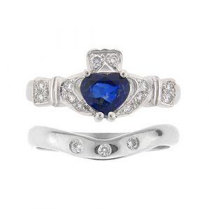 ashford-3-stone-claddagh-wedding-set-in-platinum-and-sapphire