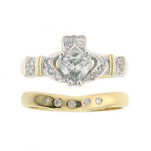 ashford-5-stone-claddagh-wedding-set-in-14-karat-yellow-gold-and-diamond