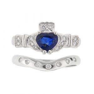 ashford-7-stone-claddagh-wedding-set-in-18-karat-white-gold-and-sapphire