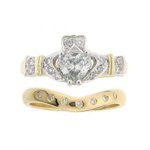 ashford-7-stone-claddagh-wedding-set-in-18-karat-yellow-gold-and-diamond