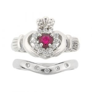 cashel-5-stone-wedding-set-in-14kt-white-gold-and-ruby