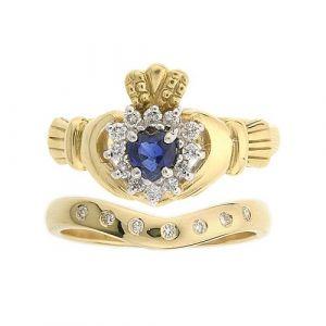 cashel-7-stone-wedding-set-in-14-karat-yellow-gold-and-sapphire