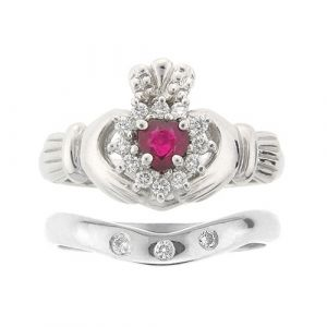 cashel-claddagh-ring-wedding-set-in-white-gold-and-ruby