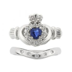 cashel-claddagh-wedding-set-in-14-karat-white-gold-and-sapphire