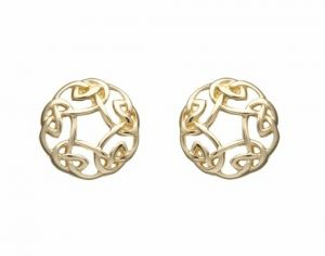 celtic-gold-circle-earrings