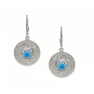 celtic-warrior-sterling-silver-stoneset-drop-earrings