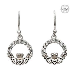 claddagh-earrings-with-white-swarovski-crystals