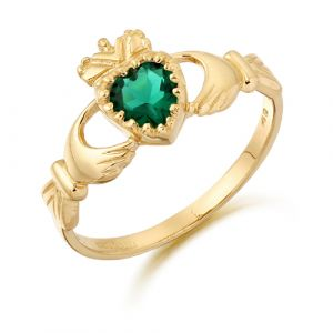 green-cz-claddagh-ring-in-gold