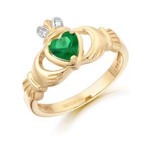 green-cz-claddagh-ring-in-9-karat-gold