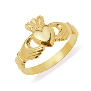 Gents-Claddagh-Ring-in-14-karat-Yellow-Gold