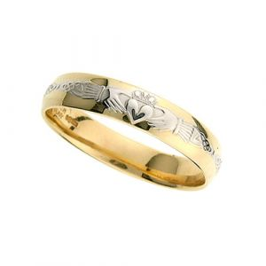 gents-domed-celtic-wedding-ring-in-two-tone-14-karat-gold