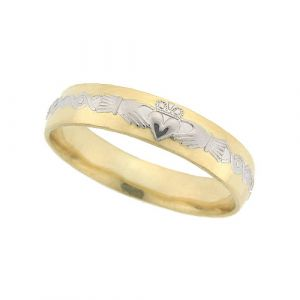 gents-domed-scroll-celtic-wedding-ring-in-two-tone-14-karat-gold