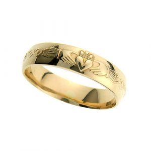 gents-domed-scroll-claddagh-wedding-ring-18-karat-yellow-gold