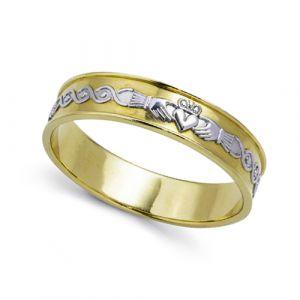 gents-flat-celtic-scroll-wedding-ring-in-two-tone-14-karat-gold