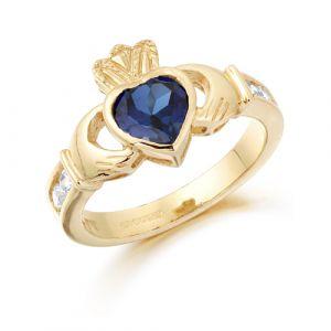 gold-claddagh-ring-with-dark-blue-cz