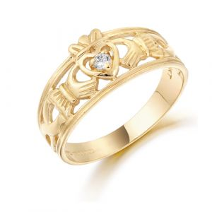 gold-claddagh-wide-band-with-cubic-zirconia