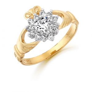gold-cluster-claddagh-ring-with-cubic-zirconia