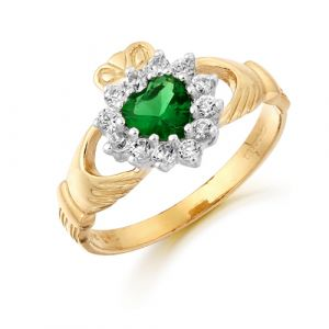 gold-cluster-claddagh-ring-with-green-cz
