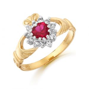 gold-cluster-claddagh-ring-with-red-cz