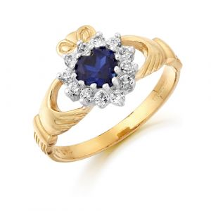 gold-cluster-claddagh-ring-with-blue-cz