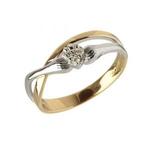 gold-contemporary-crossover-diamond-claddagh-ring