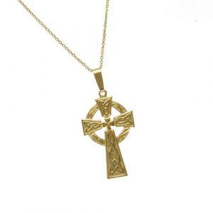 gold-shamrock-celtic-cross