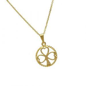 gold-shamrock-pendant