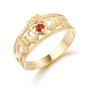 gold-wideband-claddagh-ring-with-deep-red-cz