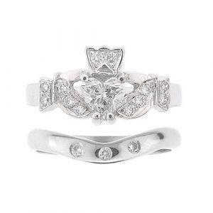 kinvara-3-stone-claddagh-wedding-set-in-14-karat-white-gold-and-diamond