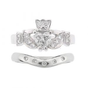 kinvara-5-stone-calddagh-wedding-set-in-14-karat-white-gold-and-diamond