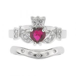 kinvara-5-stone-claddagh-wedding-set-in-platinum-and-ruby