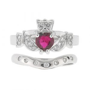 kinvara-7-stone-claddagh-wedding-set-in-14-karat-white-gold-ruby