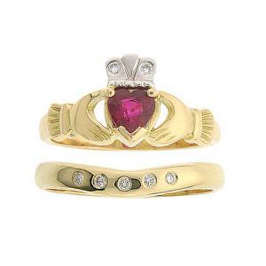 kylemore-5-stone-wedding-set-in-14-karat-yellow-gold-and-ruby