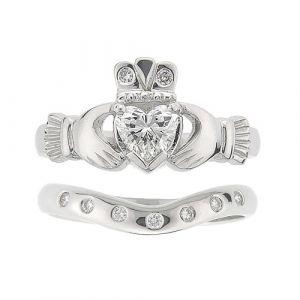 kylemore-7-stone-claddagh-wedding-set-in-18-karat-white-gold-and-diamond