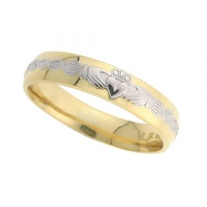 ladies-domed-scroll-wedding-ring-in-two-tone-14-karat-gold