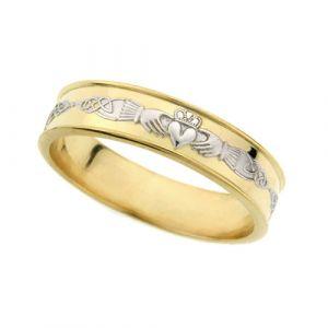 ladies-flat-celtic-wedding-ring-in-two-tone-14-karat-gold