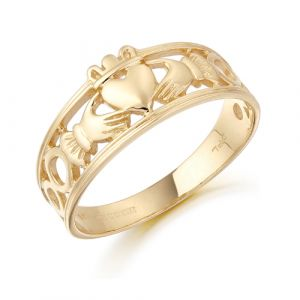 ladies-gold-wideband-claddagh-ring