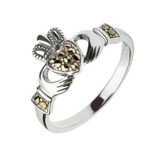 marcasite-claddagh-ring