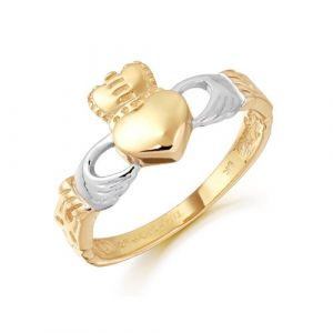 ladies-two-tone-gold-claddagh-ring