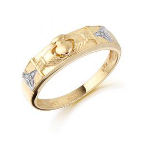 ladies-two-tone-trinity-claddagh-band-in-9-karat-gold